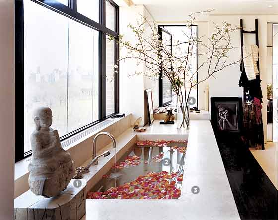 Donna Karan's Sea of Tranquillity - New York Magazine Great Bathrooms