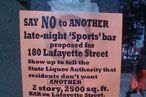 Neighbors Attempt to Sack Sports Bar