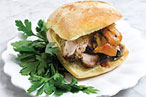 Porchetta's pork sandwich.