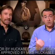 Huckabee with Chuck Norris, in one of his best moments.