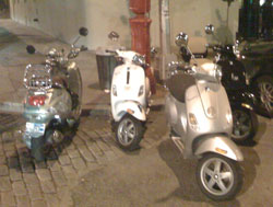 Vespa Parking Only, outside of the Burger Bash.