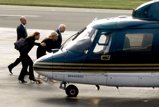 Are they taking Bart Bass's helicopter?