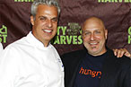 Eric Ripert and Tom Colicchio at last night's<br>  City Harvest event.
