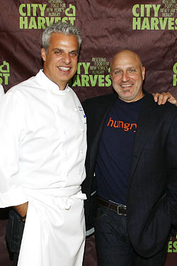 Eric Ripert and Tom Colicchio at last night's  City Harvest event.
