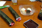 Sushi, like in <em>Sixteen Candles</em>.