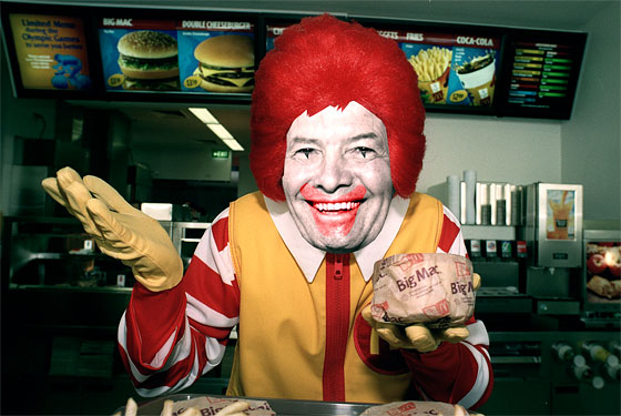 Pépin, unlikely spokesman for McDonald's.