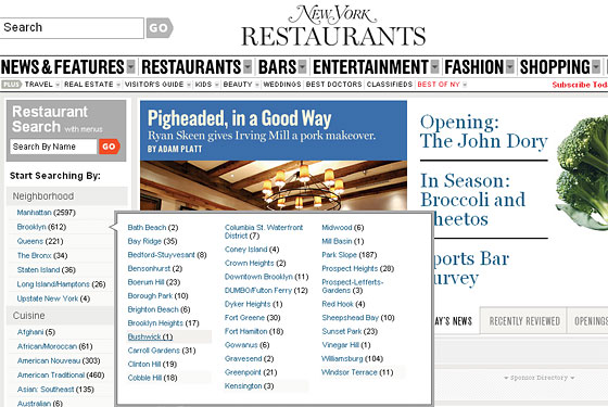 Brownstoner, NYMag.com Make Your Quest for Fine Nourishment That Much Easier