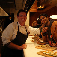 Chef Seamus Mullen and Akhtar Nawab.