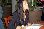 Padma Lakshmi will sign your book<br> with tangy, hot, tart, or sweet greetings.