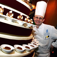 Chef Laurent Richard, a skinny pastry chef.