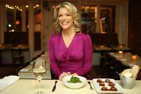 Fox News' Megyn Kelly at one of her favorite restaurants in New York, salt.