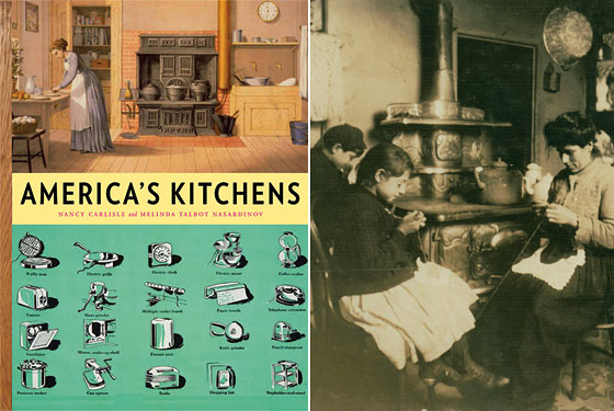 Right: The kitchen at 303 East 149th Street in the Bronx in 1912.