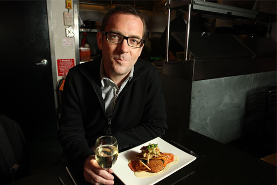 Ted Allen at one of his neighborhood favorites, Abistro.