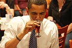 Obama's beer isn't even close.