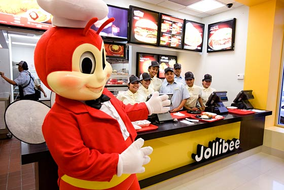 The Jollibee and friends in Woodside.