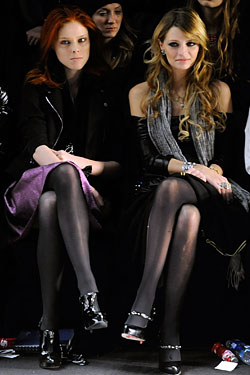 Coco Rocha and Mischa Barton at Miss Sixty.