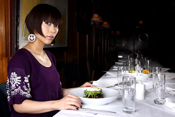 Singer-songwriter Hikaru Utada at Lure Fishbar in New York.