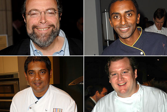 Clockwise from top left: Drew Nieporent, Marcus Samuelsson, Michael White, Floyd Cardoz.