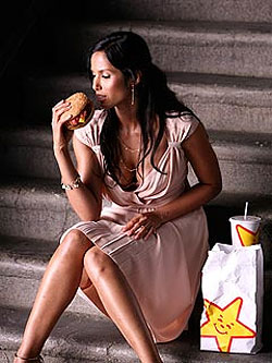 Padma Does a &#8216;Burger Shot&#8217; for Hardee&#8217;s