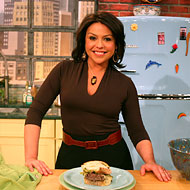 Rachael Ray on the set of her eponymous show.