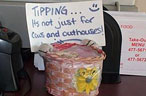 Oh, the Guilt-Inducing Countertop Tip Jar