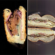Left: Scanwiches. Right: Scanwich.