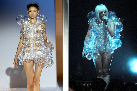 Does It Matter If Lady Gaga's Bubble Dress Is a Hussein Chalayan Knockoff?