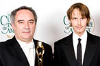 From left, Ferran Adrià and Grant Achatz.