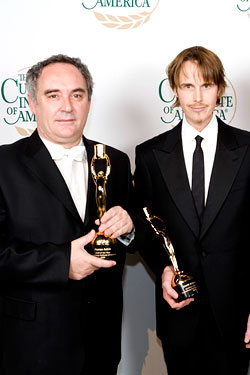 From left, Ferran Adrià and Grant Achatz