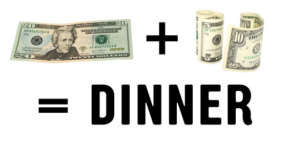 User's Guide: Never Spend More Than $35 for Dinner