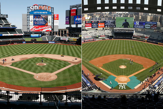 Citi Field and Yankee Stadium.