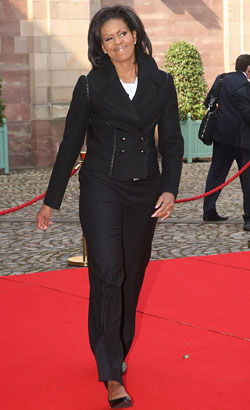 Alaia Dress And Jacket Mrs. Obama Wore tailored Alaa jacket