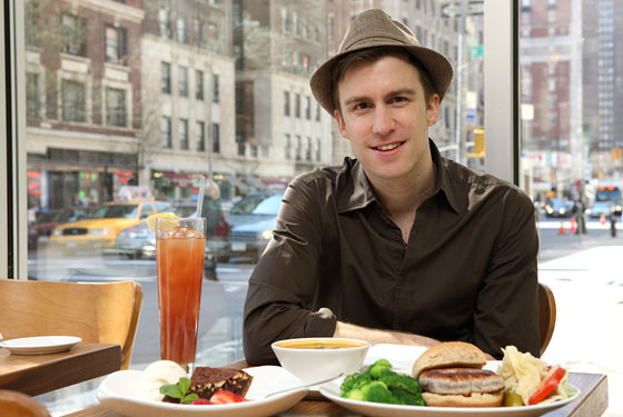 Gavin Creel of Broadway's Hair loves Josie's.