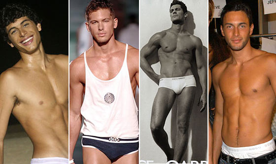 Hotties, from left: Jesus Luz, Adam Senn, David Gandy, and Noah Mills.