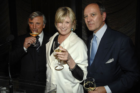 Julian Niccolini, Martha Stewart, and Alex von Bidder at the Four Seasons roast
