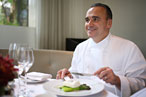 Jean-Georges Vongerichten makes his own lunch at Jean Georges.