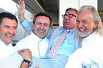 From left, Laurent Tourondel, Daniel Boulud, critic John Curtas, Hubert Keller, Guy Savoy.