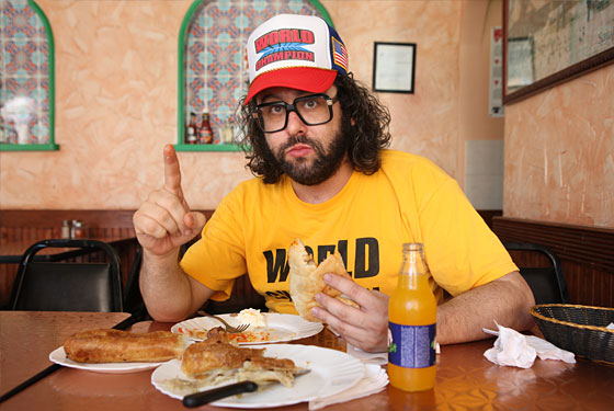 Friedlander, not eating a burrito.