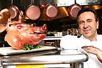 Daniel Boulud and friend.