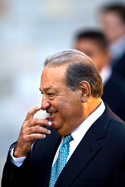 Carlos Slim knows who the man is.