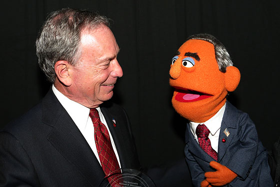 Can you spot the real Mayor Bloomberg?