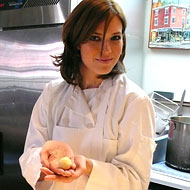 Mandy Moore Learns How to Cook the Spotted Pig's Gnudi