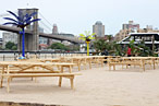 A Closer Look at Water Taxi Beach at South Street Seaport