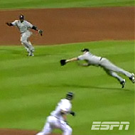 Joba's ridiculous catch in the fifth.