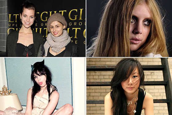 Clockwise from top left: Vena Cava, Lykke Li, Jen Kao, and Daisy Lowe.