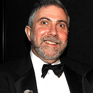 Krugman at the <em>Time</em> 100 party in May.