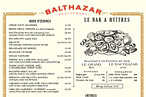 Balthazar&#39;s menu is a lesson in good salesmanship.