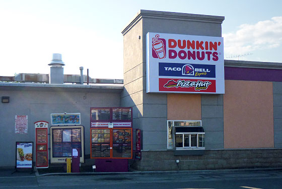 The combination Pizza Hut, Taco Bell, and Dunkin' Donuts.