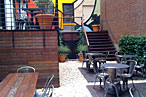 Pod Caf&amp;eacute;&#39;s outdoor terrace.