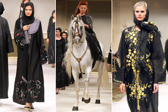 John Galliano, Carolina Herrera, Nina Ricci, and More Design Fancy Abayas